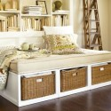 Modern Stratton-Daybed-with baskets , 10 Stratton Daybed Idea In Bedroom Category