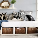 Stratton Daybed with white with basket drawer , 10 Stratton Daybed Idea In Bedroom Category
