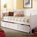 Wooden Daybed with Trundle Arched Panels , 8 Nice Daybeds With Trundle Ikea In Bedroom Category