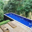 Apartment , 6 Awesome Above Ground Lap Pools Design : above hill above ground lap pools