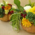 cute flower pumpkin centerpiece , 12 Amazing Pumpkin Centerpieces In Lightning Category