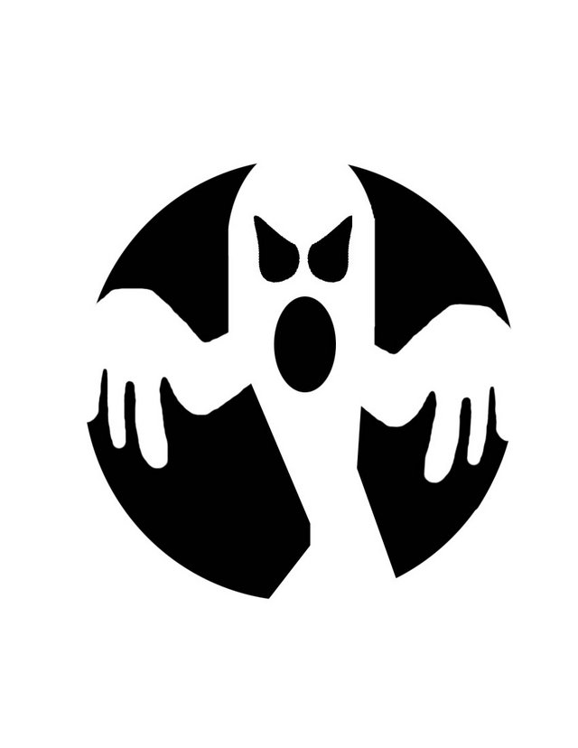 Ghost free pumpkin carving patterns and stencils