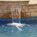 inground swimming pool waterfall , 5 Inground Pool Waterfalls Idea In Apartment Category