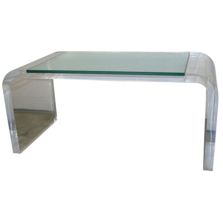 Furniture , 8 Lovely Lucite Coffee Table : lucite coffee table square