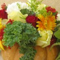 pumpkin centerpiece with flower , 12 Amazing Pumpkin Centerpieces In Lightning Category
