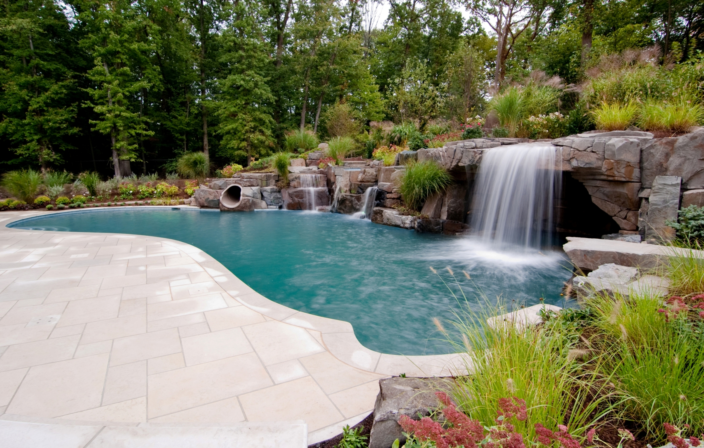 inground pools with waterfalls. Apartment , 5 Inground Pool Waterfalls Idea : Swimming Pools With O