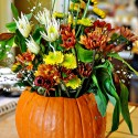 vase flower Pumpkin centerpiece , 12 Amazing Pumpkin Centerpieces In Lightning Category