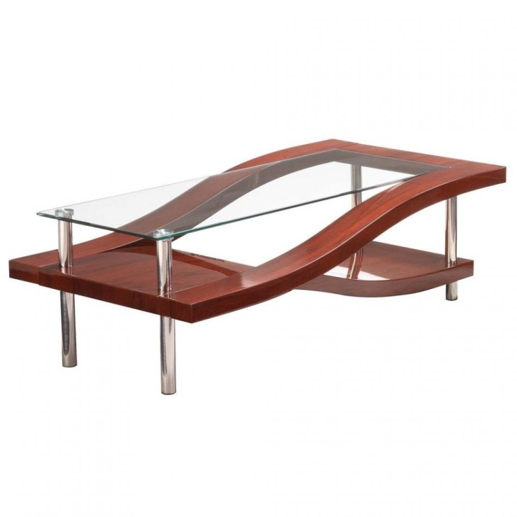 Furniture , 5 Glass Topped Coffee Tables Design : wave style glass topped coffee tables
