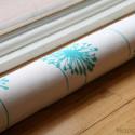 Turquoise Dandelion Window Draft Stopper , 5 Nice Window Draft Stopper In Living Room Category