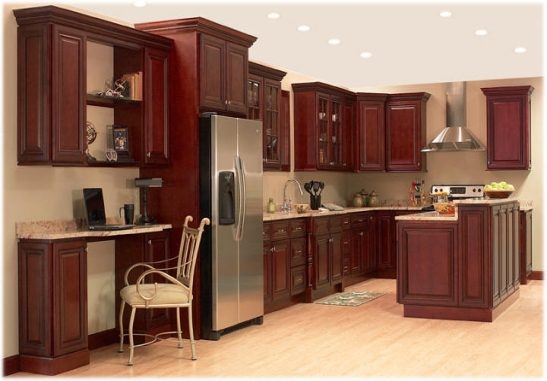 Kitchen , 6 Nice 10×10 kitchen layout with island : 10x10 Kitchen Designs Image