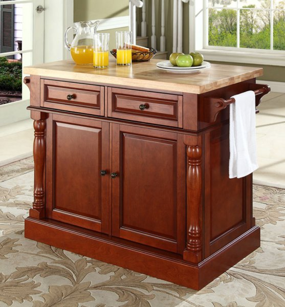 Kitchen , 8 Top Kitchen Islands With Butcher Block Tops : Butcher Block Top Kitchen Island