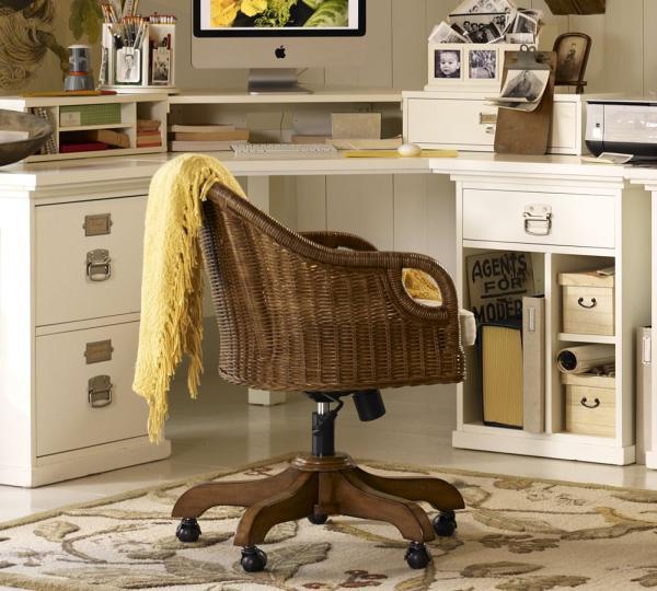 Furniture , 7 Gorgeous Rattan Swivel Desk Chair : Charming Wingate Rattan
