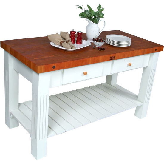 Furniture , 7 Top John Boos Butcher Block Kitchen Island : Cherry Butcher Block