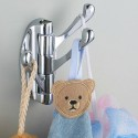 Chrome Swivel Coat Hooks , 9 Lovely Clothes Hooks For Wall Mounting In Furniture Category