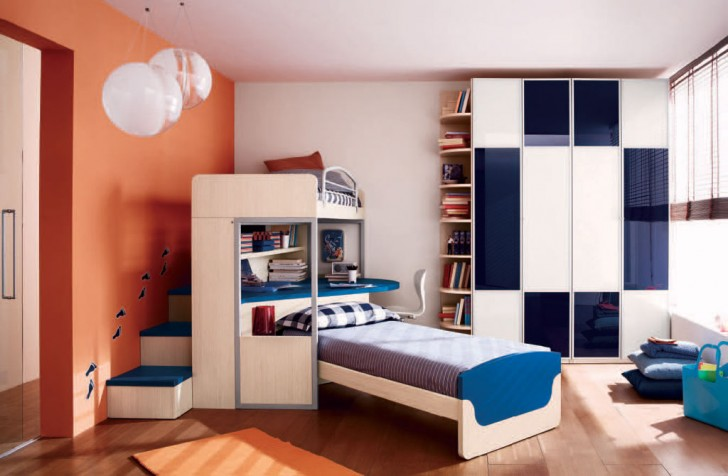 Bedroom , 5 Cool Bedroom Ideas For Teenage Guys : Colorful Cool Boys Teenage Bedroom