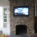 Custom framed stack-stone fireplace , 7 Nice Stack Stone Fireplaces In Furniture Category
