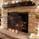 Designing a Stone , 7 Popular Stacked Stone Fireplaces In Furniture Category