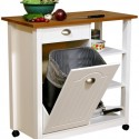 Fabulous And Attractive Mobile Trash , 8 Nice Kitchen Island With Garbage Bin In Kitchen Category