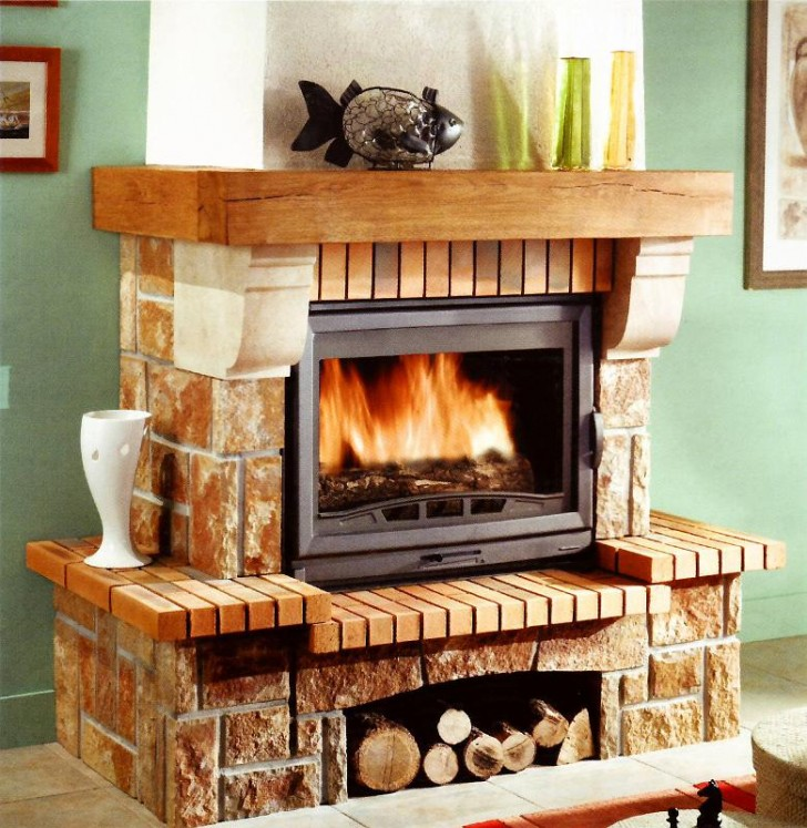Furniture , 6 Fabulous Rustic Fireplace Surrounds : Fireplace Surrounds