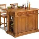 Kitchen , 7 Stunning Movable kitchen islands with stools : Homestyles Oak Kitchen Island