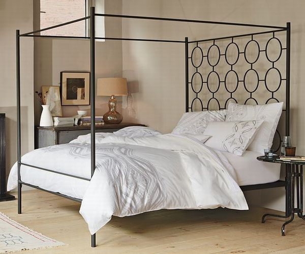 Bedroom , 6 Best Do It Yourself Headboards For Beds : Iron Bed Headboard Design