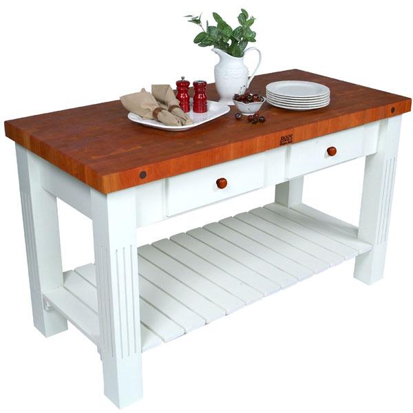 Furniture , 8 Nice Ohn Boos Kitchen Islands : John Boos Cherry Grazzi Kitchen Island