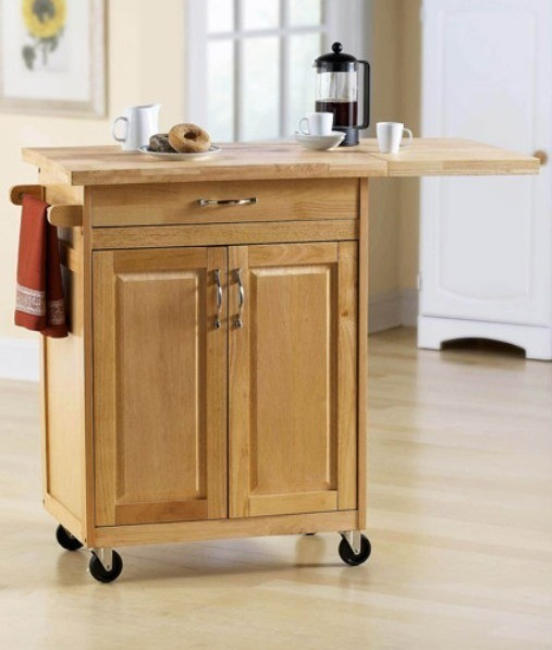 Kitchen , 7 Unique Mainstays Kitchen Island Cart Natural : Kitchen Islands & Carts