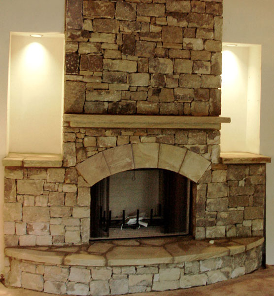 Furniture , 7 Nice Stack Stone Fireplaces : Natural Stone Photos