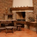 Natural stone fireplace , 8 Beautiful Stacked Stone Fireplace Pictures In Furniture Category