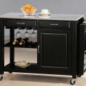 Portable Kitchen Islands black , 8 Cute Movable Kitchen Island Ideas In Furniture Category