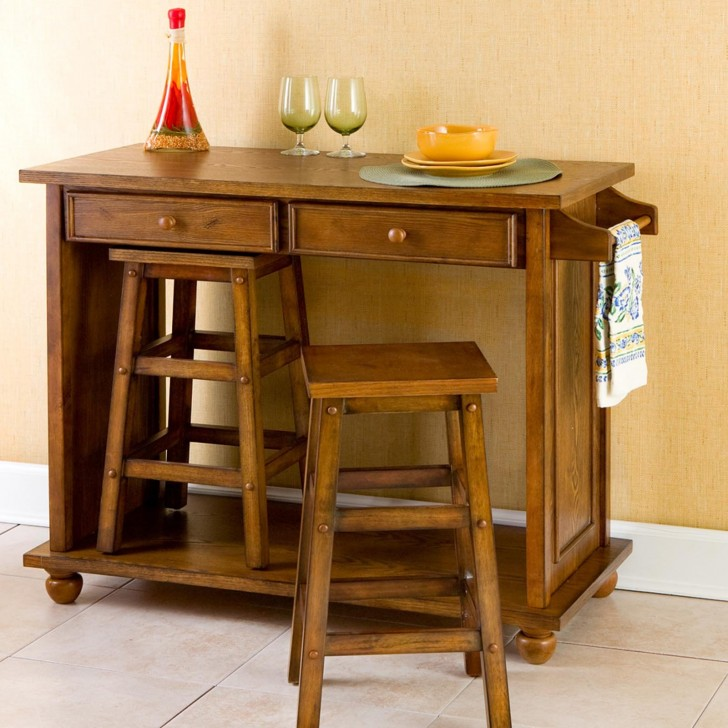 Kitchen , 7 Stunning Movable Kitchen Islands With Stools : Portable Kitchen Islands 4