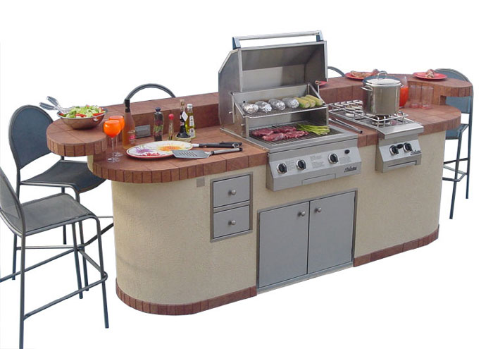Kitchen , 6 Fabulous Prefab Outdoor Kitchen Grill Islands : Prefab Outdoor Kitchen Grill Islands
