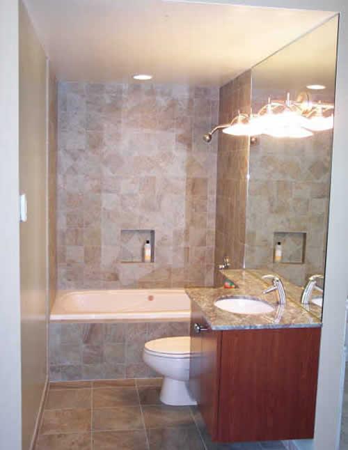 Bathroom , 8 Nice Bathroom Remodels For Small Bathrooms :  Small Bathroom