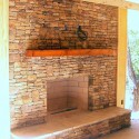 Stack stone fireplace , 7 Nice Stack Stone Fireplaces In Furniture Category