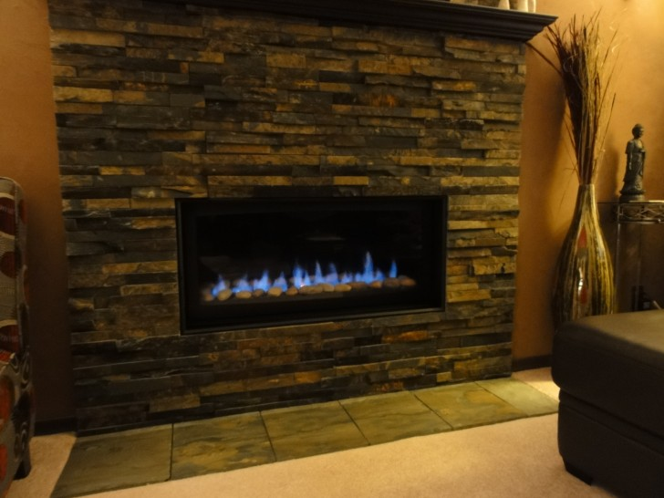 Furniture , 6 Gorgeous Stone Veneer Fireplace Surround : Stone Veneer