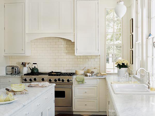Kitchen , 8 Cool White Subway Tile Backsplash Ideas : Tile Kitchen Backsplash