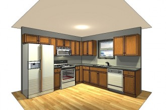 600x413px 6 Nice 10×10 Kitchen Layout With Island Picture in Kitchen