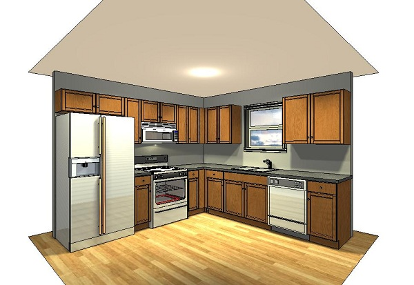 Kitchen , 6 Nice 10×10 Kitchen Layout With Island : Viewing Kitchen