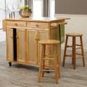 Vinton Portable Kitchen Island  , 7 Stunning Movable Kitchen Islands With Stools In Kitchen Category