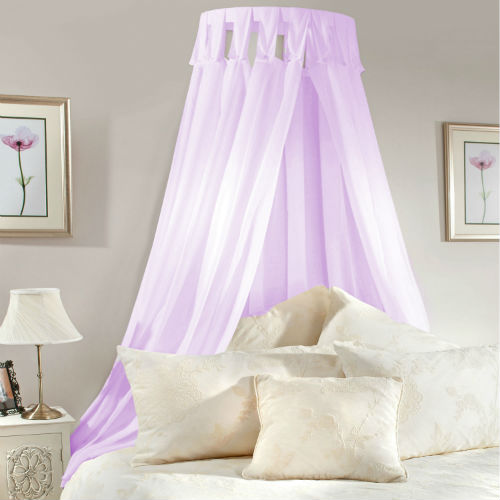 Bedroom , 4 Unique Girls Canopy Bed Curtains : Voile Bed Canopy