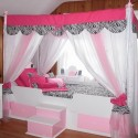 White Canopy Bed , 4 Unique Girls Canopy Bed Curtains In Bedroom Category