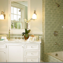 beautiful green tile , 7 Beautiful Colored Subway Tiles In Furniture Category