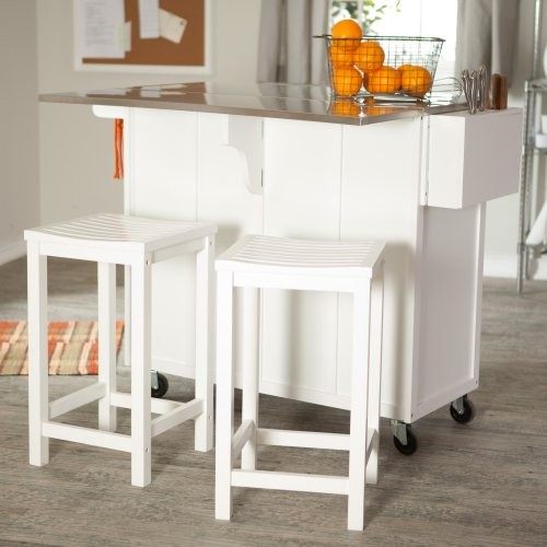 Kitchen , 7 Stunning Movable kitchen islands with stools : Contemporary Kitchen Islands
