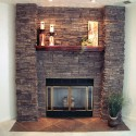 fireplace , 6 Gorgeous Stone Veneer Fireplace Surround In Furniture Category