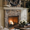 fireplace ideas , 6 Gorgeous Stone Veneer Fireplace Surround In Furniture Category