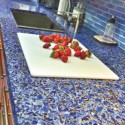 glass countertops , 7 Charming Recycled Material Countertops In Furniture Category