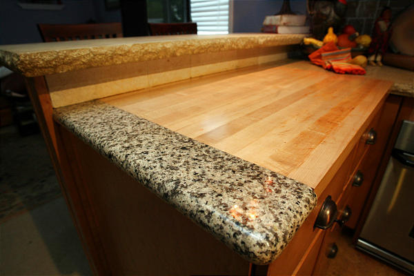 Furniture , 7 Charming Recycled Material Countertops : granite tile