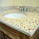 recycled glass , 7 Charming Recycled Material Countertops In Furniture Category