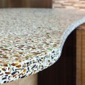recycled glass countertops , 7 Charming Recycled Material Countertops In Furniture Category