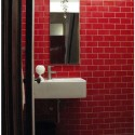 red subway tile , 7 Beautiful Colored Subway Tiles In Furniture Category